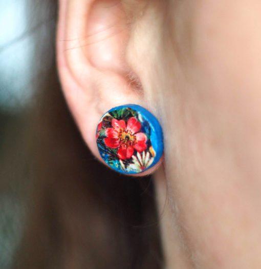 Náušnice Kytica lúčnych kvetov Puzetky