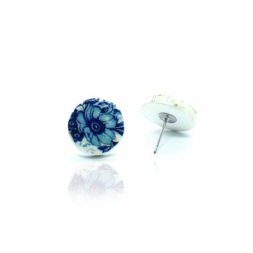 Náušnice modré kvety Puzetk
