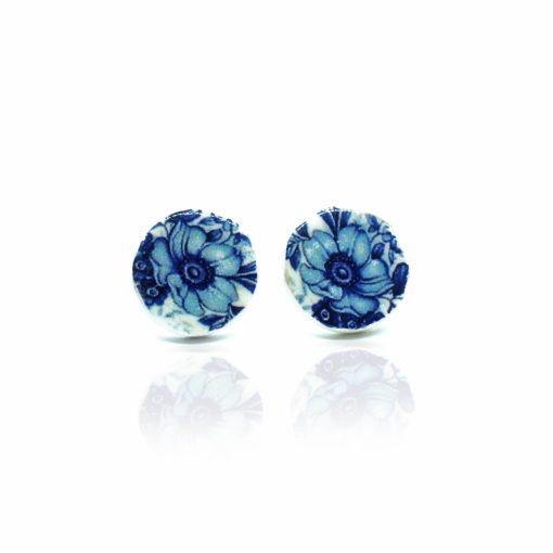 Náušnice modré kvety Puzetky