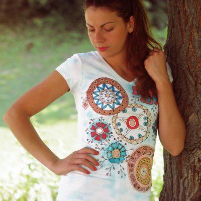 Tričko Veselé Ručne maľované