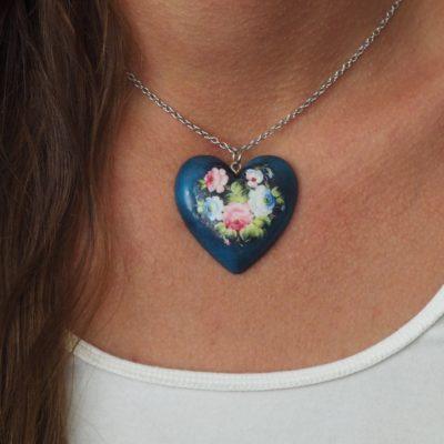 Náhrdelník kvety Veronika srdce